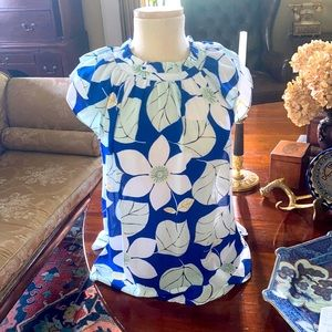 Ann Taylor Factory Sleeves Floral Blouse